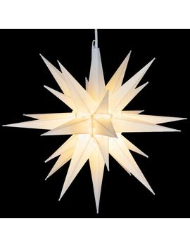 14 In. Illuminated Led White Holiday Moravian Star by Kringle Traditions