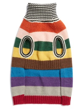 Dark Rainbow Wool Dog Sweater by Lovethybeast