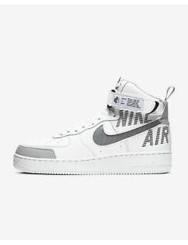 Nike Air Force 1 '07 Lv8 Hi Under Construction Cq0449 100 White Wolf Grey Black by Ebay Seller