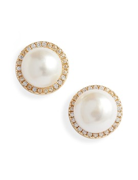 Imitation Pearl Stud Earrings by Sterling Forever