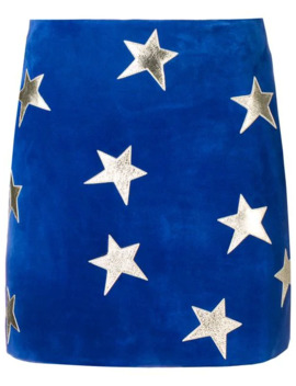 Star Patches Mini Skirt by Saint Laurent
