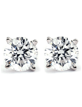 3/4 Carat Tw Diamond Stud Earrings (I2 I3 Clarity, Ij Color) 14k White Gold by Pompeii3