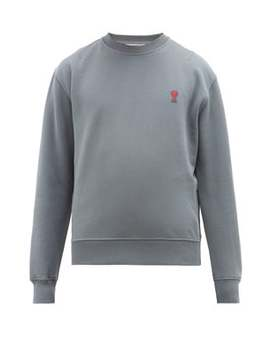Ami De Coeur Appliqué Cotton Sweatshirt by Ami