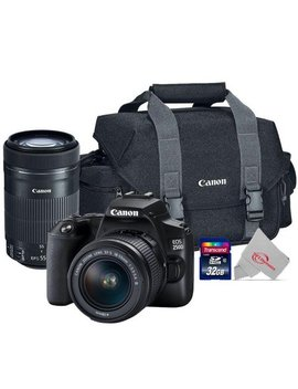 Canon Eos 250 D Rebel Sl3 24.1 Mp Digital Slr Camera With Ef S 18 55mm And Ef S 55 250mm Stm Lens Kit by Teds