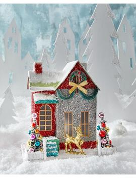 Merry And Bright Glitter Cottage Holiday Decor by Cody Foster & Co