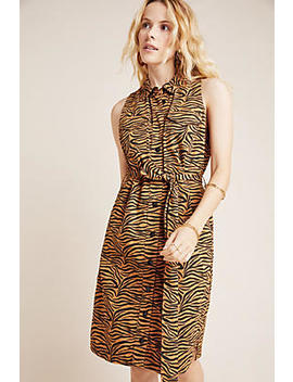 Gemini Tiger Print Shirtdress by Maeve