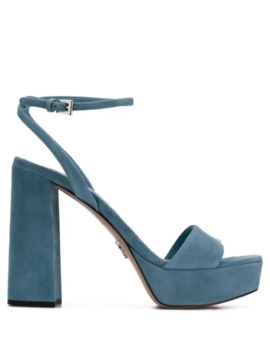 Ankle Strap Platform Sandals by Prada