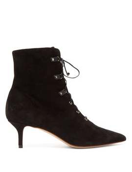 Lace Up Suede Ankle Boots by Francesco Russo
