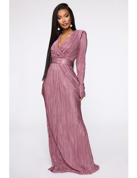 Pleat The Way Belted Maxi Dress   Dusty Lavender by Fashion Nova