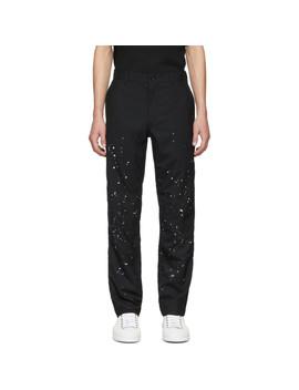 Black Wool Paint Splatter Trousers by Comme Des GarÇons Homme