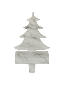 """Northlight 8"""" White And Black Marbled Christmas Tree Stocking Holder by Northlight"""