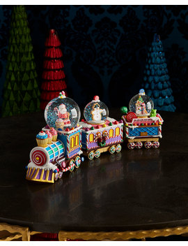 Sugar Choo Choo Snow Globe by Christopher Radko