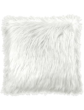"Your Zone Flokati Decorative Throw Pillow, 16"" X 16\"", White by Your Zone"