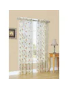 Style Selections Arcadia 84 In Antique Polyester Sheer Single Curtain Panel by Lowe's