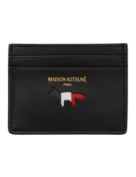 Black Fox Card Holder by Maison KitsunÉ