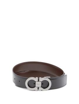 Reversible Leather Gancini Belt by Salvatore Ferragamo
