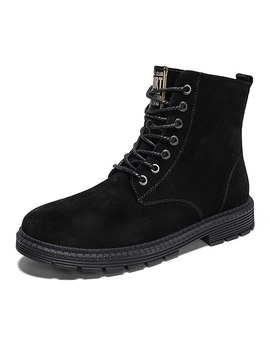 New Arrived Men's Genuine Leathers Boots Ankle Boots Men Winter Shoes Combat Boots Desert Boots Men Safety Shoes Plus Size 38 47 by Ali Express.Com