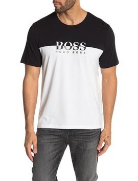Fashion Colorblock Brand Logo T Shirt by Boss