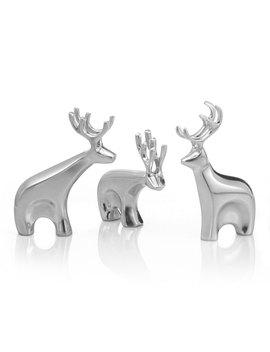 Holiday Miniature Dasher Reindeer Figurine Set by Nambe