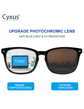 Cyxus Photochromic Blue Light Blocking Glasses For Men Women Reduce Eye Fatigue Outdoor Anti Glare Uv400 8382 by Ali Express.Com