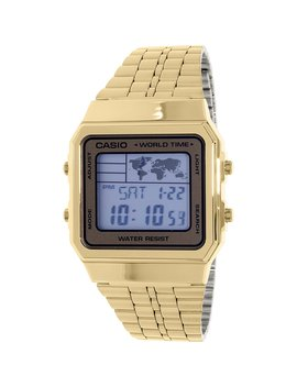 Men's A500 Wga 9 Gold Stainless Steel Quartz Dress Watch by Casio