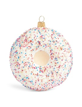 Glitter Doughnut Handblown Glass Ornament by Nordstrom