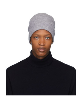 Grey Wool & Cashmere Tazio R Beanie by Mackage