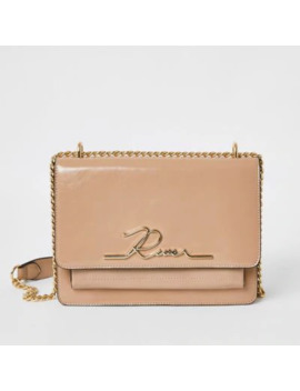 Pink Patent 'river' Satchel Bag by River Island