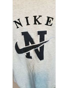 Vintage 80's Nike Embroidered Swoosh Crewneck Sweatshirt Xl Gray Tag Made Usa by Nike