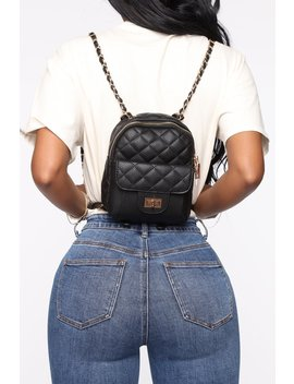 Weekender Quilted Backpack   Black by Fashion Nova