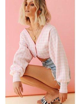 Paris In The 70's Knit Crop // Baby Pink by Vergegirl