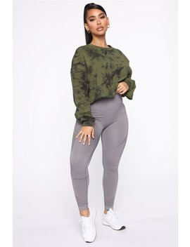Born To Tie Dye Lounge Pullover   Olive by Fashion Nova