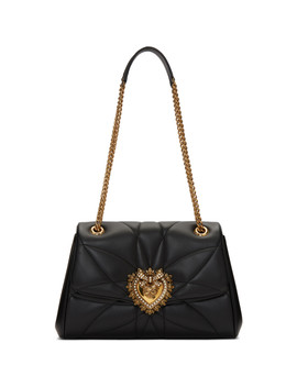Black Large Quilted Devotion Bag by Dolce & Gabbana