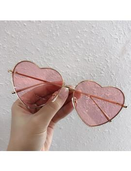 Vintage Heart Sunglasses Women With Brand Designer Candy Color Gradient Sun Glasses Lentes De Sol Mujer by Ali Express.Com