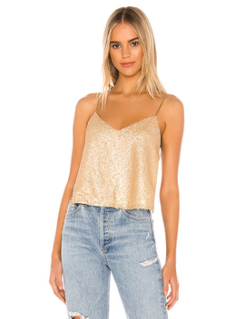 Caitlyn Backless Top In Gold by Superdown