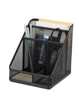 Mesh Medium Desktop Organizer Black   Made By Design™ by Made By Design