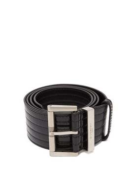 Ribbed Patent Leather Belt by Givenchy