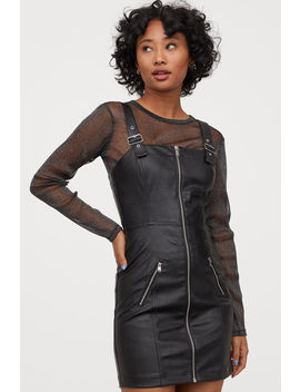 Short Faux Leather Dress by H&M
