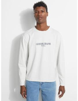 Guess Originals Long Sleeve Logo Tee by Guess