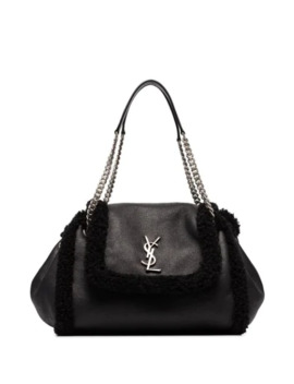Small Nolita Shearling Shoulder Bag by Saint Laurent