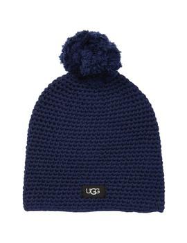 Yarn Pompom Knit Beanie by Ugg