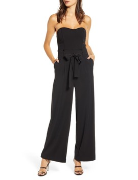 Strapless Wide Leg Jumpsuit by J.O.A.