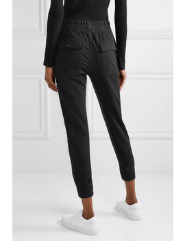 Jersey Trimmed Cotton Gabardine Track Pants by James Perse