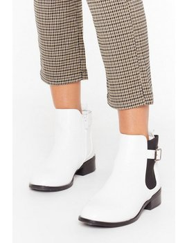 Just My Buck Le Faux Leather Ankle Boots by Nasty Gal