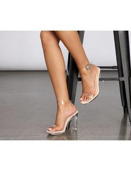 Mad Love Clear Platform Heels by Windsor