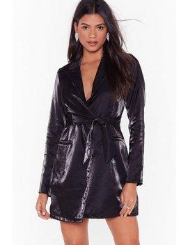 Doin' Just Shine Belted Blazer Dress by Nasty Gal