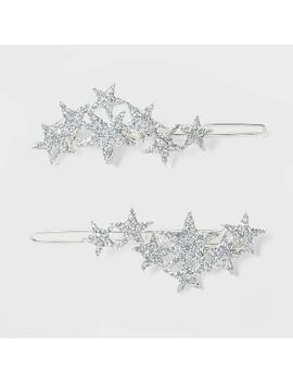 Glitter Stars Manual Barrette   Wild Fable™ Silver by Wild Fable