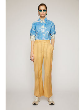 Flared Pinstripe Trousers Pale Orange by Acne Studios