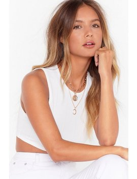 Chasing The Moon Layered Pendant Necklace by Nasty Gal