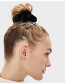 Σετ με 2 λαστιχάκια και κοκαλάκια μαλλιών by Bershka